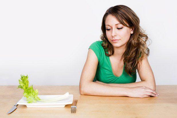 В пище недостаточно питательных веществ