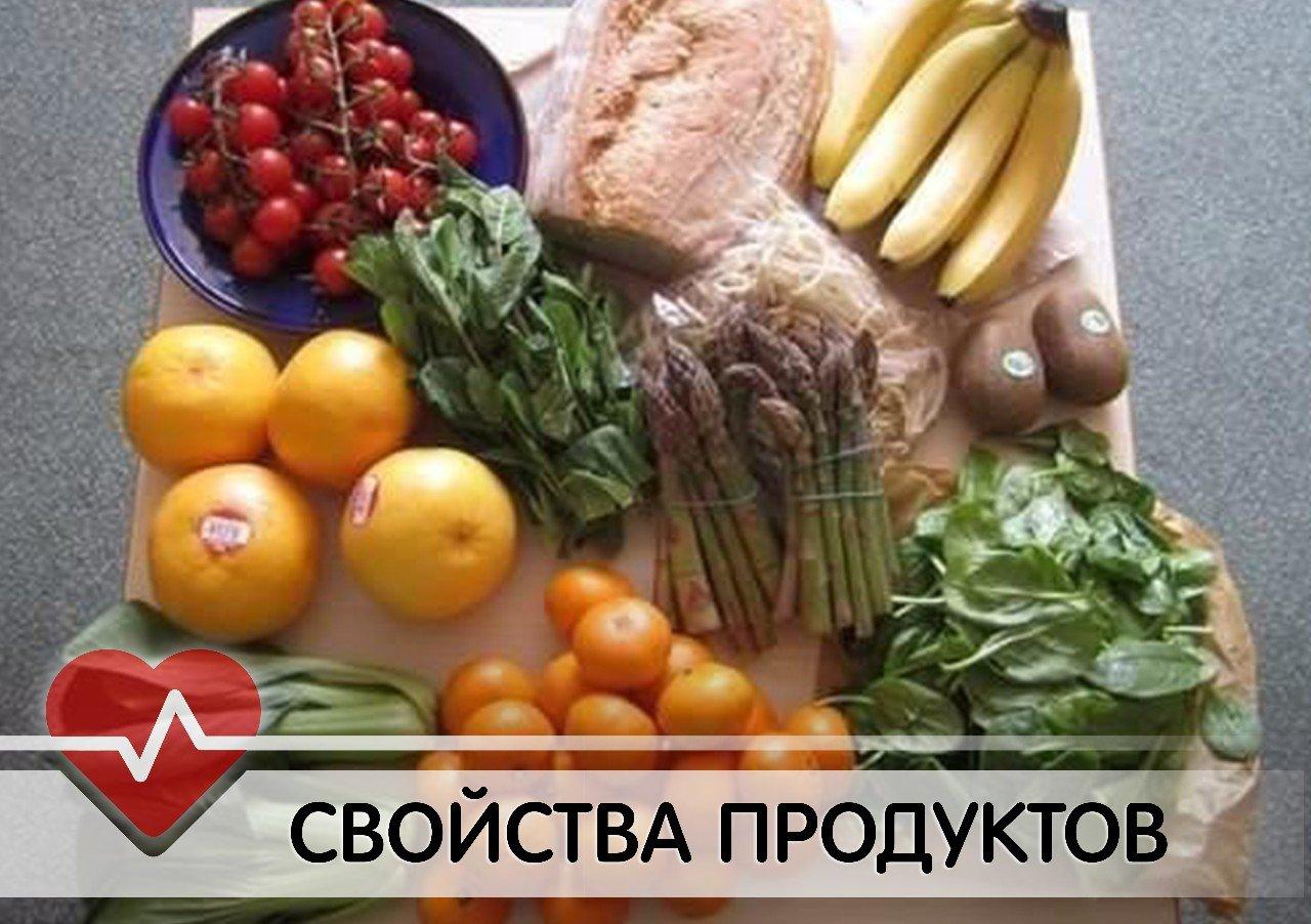Свойства продуктов
